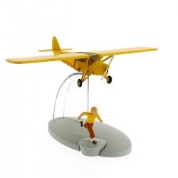 Figurine de collection Tintin L'avion orange Cigares du pharaon Nº7 29527 (2014)