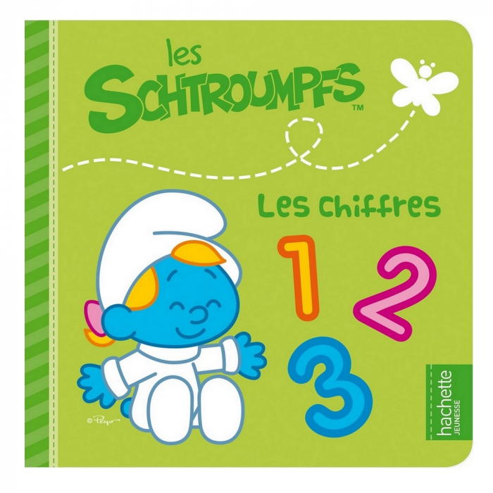 Children's Book The Smurfs, The Numbers (16x16cm)