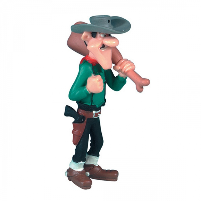 Collectible figure Plastoy Lucky Luke Averell Dalton with a ham 38081 (2010)