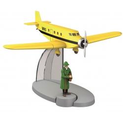Figura de colección Tintín El avión de Basil Bazaroff Nº14 29534 (2014)