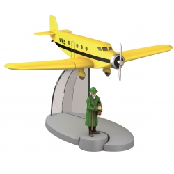 Figurine de collection Tintin L'avion de Basil Bazaroff Nº14 29534 (2014)