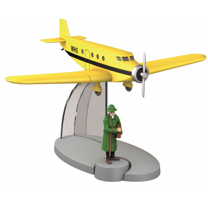 Figurine de collection Tintin L'avion de Basil Bazaroff 29534 (2014)