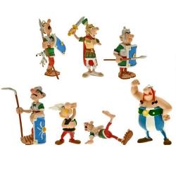 Série tube de 7 figurines Plastoy Astérix et Obélix La Bagarre (2015)