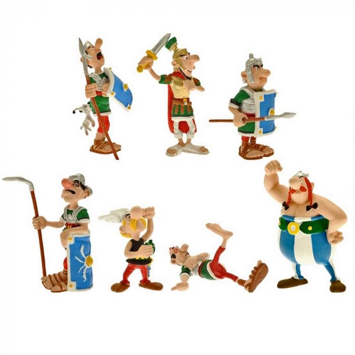 Série tube de 8 figurines Plastoy Astérix et Obélix Combat (2015)