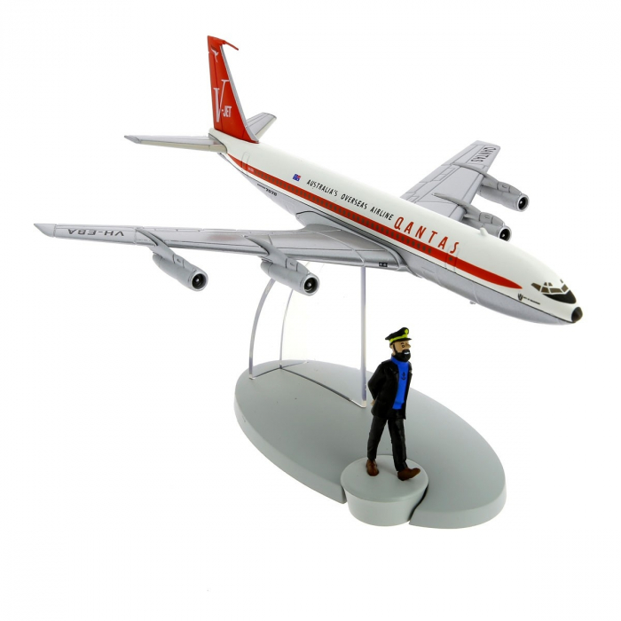 Figurine de collection Tintin L'avion Le Boeing 707 Quantas 29535 (2014)
