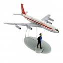 Figurine de collection Tintin L'avion Le Boeing 707 Quantas Nº15 29535 (2014)