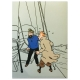 Duvet Cover and Pillowcase Tintin and Haddock 100% Cotton (140x200cm)