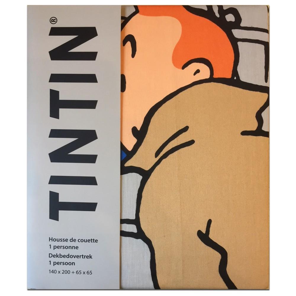 Housse De Couette Et Taie Doreiller Tintin Et Haddock 140x200cm