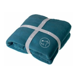 Blue Polar Plaid Blanket Tintin, Snowy 100% Polyester (130x160cm)