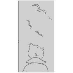 Serviette de Plage Tintín et les Oiseaux 100% Coton (90x180cm)