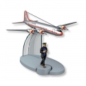 Figurine de collection Tintin L'avion Syldair Objectif Lune Nº24 29544 (2014)