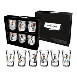 Set de seis vasos de chupito (Lucky Luke disparando)