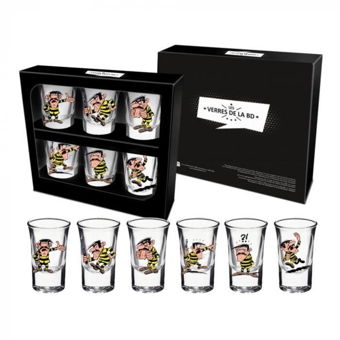 Set de seis vasos de chupito Lucky Luke (Joe Dalton)