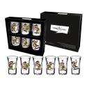 Set of 6 shot glasses Lucky Luke (Joe Dalton)