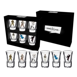 Set of 6 shot glasses Blake and Mortimer (The Characters)