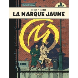 Collectible metal sign Blake and Mortimer, La Marque Jaune (20x30cm)
