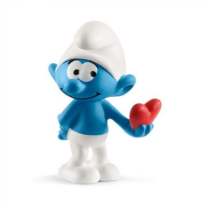 Figura Schleich® Los Pitufos - Pitufo con corazón (20817)