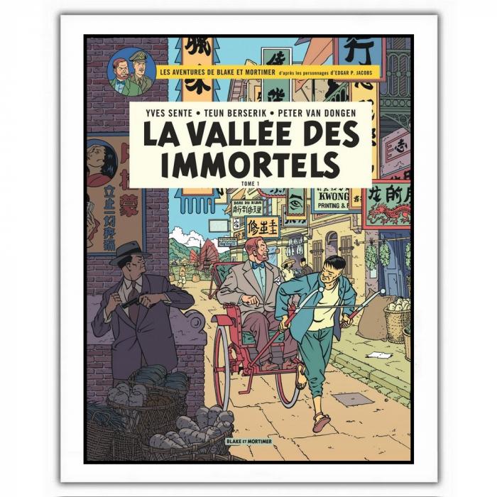 Poster affiche offset Blake et Mortimer, La vallée des immortels (28x35,5cm)