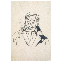 Postal de Blake y Mortimer: Philip Mortimer (10x15cm)