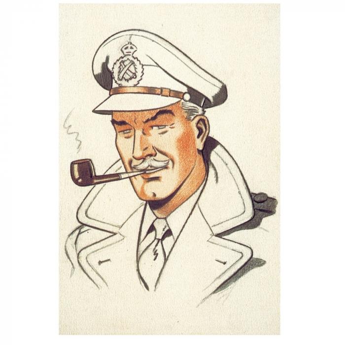 Postal de Blake y Mortimer: Sir Francis Percy Blake (10x15cm)