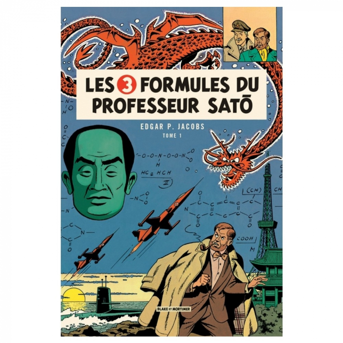 Postal de Blake y Mortimer: Les Trois Formules du professeur Satō T1 (10x15cm)