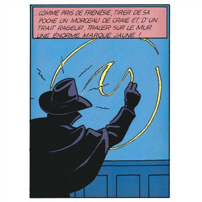 Postcard Blake and Mortimer: La marque jaune a la craie (10x15cm)