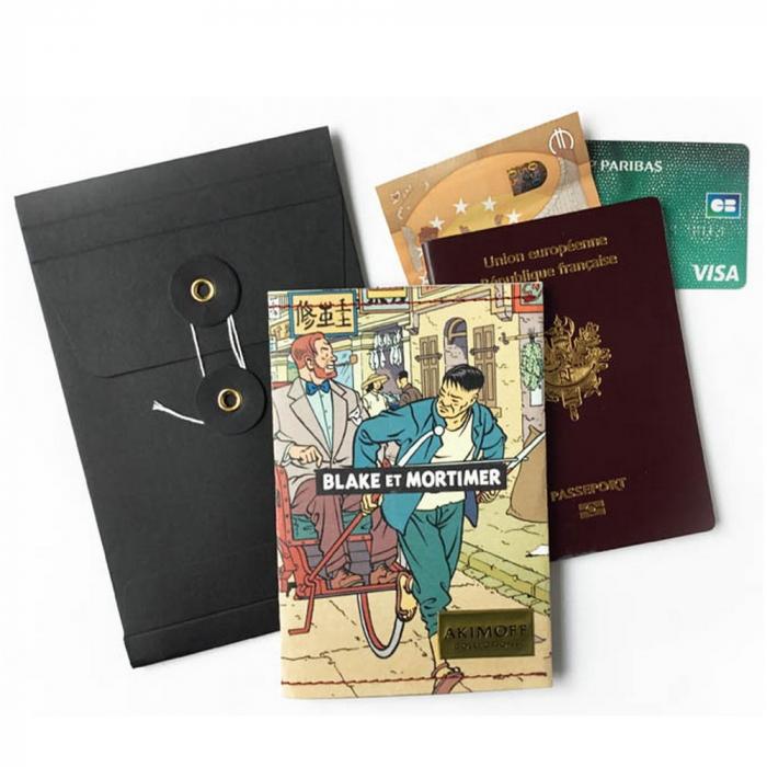 Porte Passeport Blake et Mortimer (La Vallée des Immortels 1)
