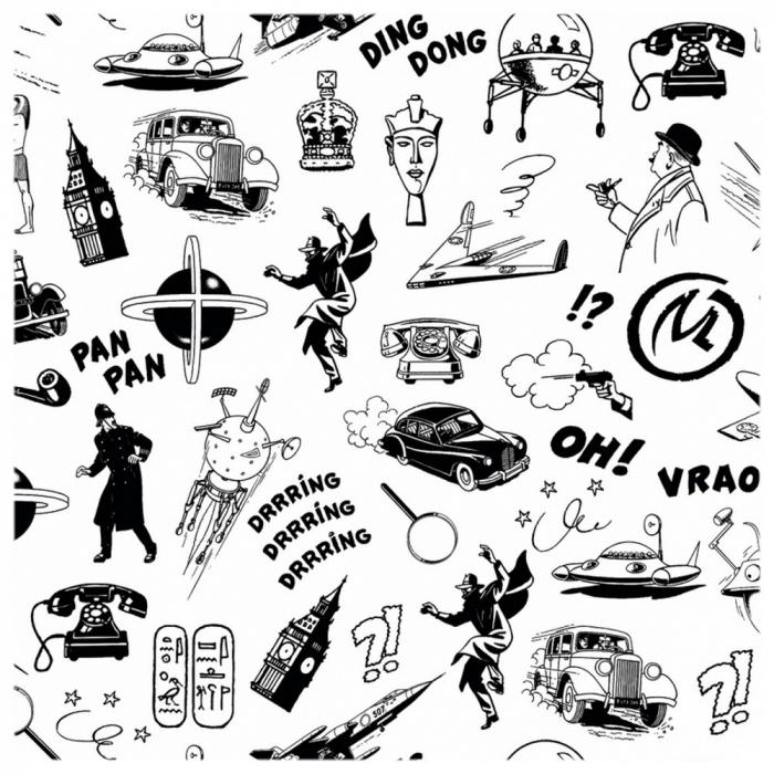 Posavaso Blake y Mortimer 10x10cm (Dibujos en blanco y negro)