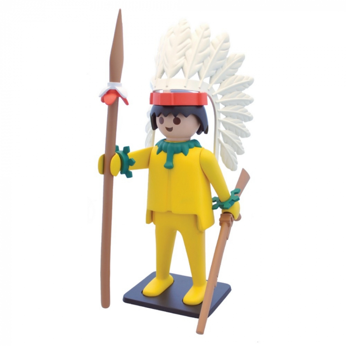 Collectible Figure Plastoy Playmobil the Yellow Indian Chief 00265 (2016)