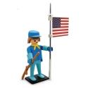 Figura de colección Plastoy Playmobil el soldado americano 00212 (2018)