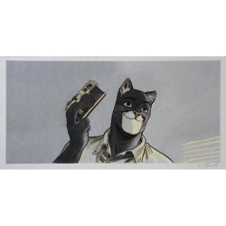 Poster affiche offset Blacksad Juanjo Guarnido, appareil photo signée (45x23cm)