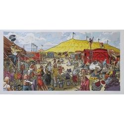 Póster cartel offset Blacksad Juanjo Guarnido, Sunflower circus (50x25cm)