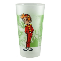 Collectible Spirou and Fantasio Glass (Spirou standing)