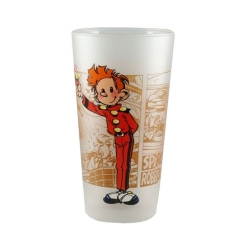 Verre de collection Spirou et Fantasio (Spirou salut)