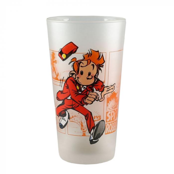 Collectible Spirou and Fantasio Glass (Spirou running away)