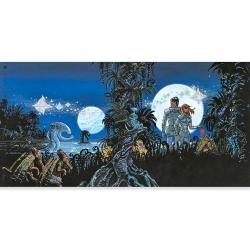 Poster affiche offset Valérian Mézières, Les Habitants du Ciel signée (100x50cm)