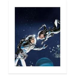 Poster affiche offset Valérian Mézières, Dansons sous les Étoiles (40x50cm)