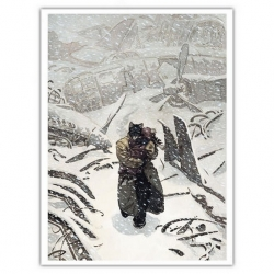 Poster affiche offset Blacksad Juanjo Guarnido, Arctic Nation T2 (24x18cm)