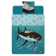 Duvet Cover and Pillowcase Tintin The Submarine Shark 100% Cotton (140x200cm)