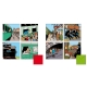Set of 8 Tintin and Trains Double Square Greeting cards 31165 (15x15cm)