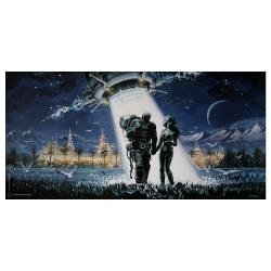 Poster offset Valérian Mézières, Utopiales Nantes 2002 (50x25cm)