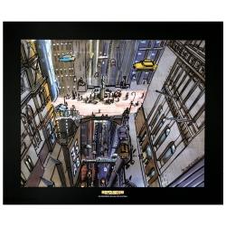 Poster affiche offset Valérian Mézières, Cinquième Élément: New York (60x50cm)