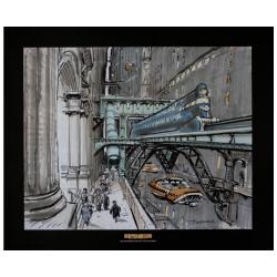 Póster cartel offset Valérian Mézières, El Quinto Elemento: Taxi (60x50cm)