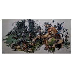 Poster offset Régis Loisel, La Quête de l'Oiseau du Temps signed (100x50cm)