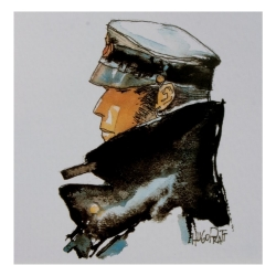 Postcard Corto Maltese, Dedicated to Corto (14x14cm)