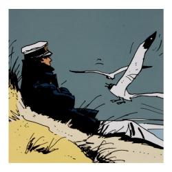 Postcard Corto Maltese, Marine (14x14cm)