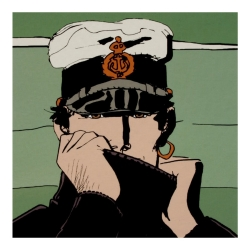 Postcard Corto Maltese, Corto for Dior (14x14cm)