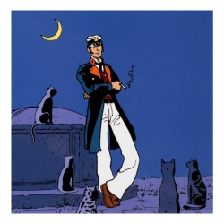 Postcard Corto Maltese, The World Is a Theater (14x14cm)