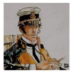 Postcard Corto Maltese, Les Éthiopiques (14x14cm)