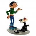 Figurine de collection Pixi Gaston Lagaffe et son chat 4739 (2002)